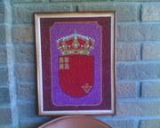 Картина из зёрен!!!Герб региона Мурсия(зёрна, крупа)