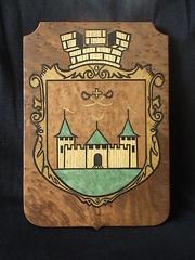 Картина из шпона!!!Современный герб.г.Хотин.Только натуральный шпон.