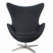 Кресло ЭГГ,  кожзам темно-красный