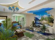Декоративные водопады по стеклу,  фонтаны,  пруды