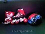 Раздвижные детские ролик Roller Set,  + защита + шлем
