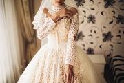 Свадебное платье,  сшитое на заказ)