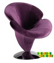 Кресло Орхидея,  ткань фиолетового цвета